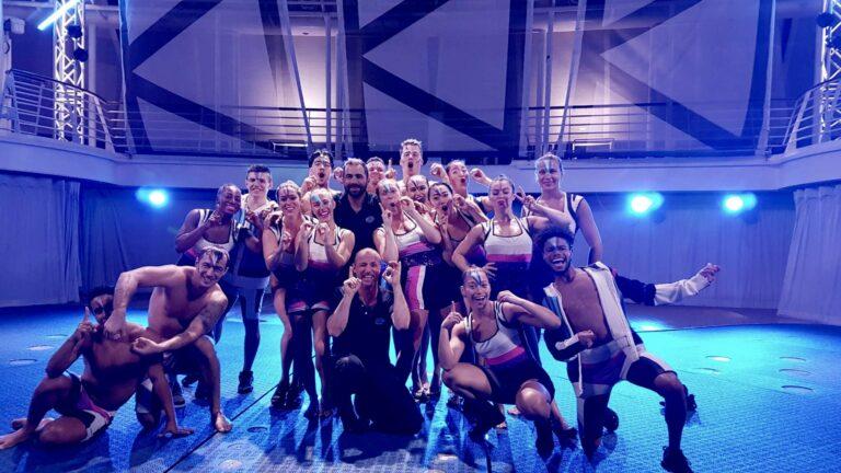 The cast of Aqua80 with Liam