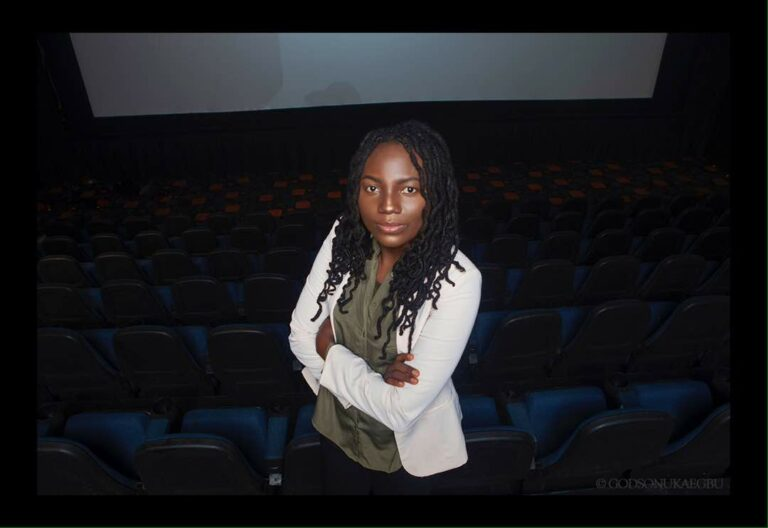 Ema in the movie theatre