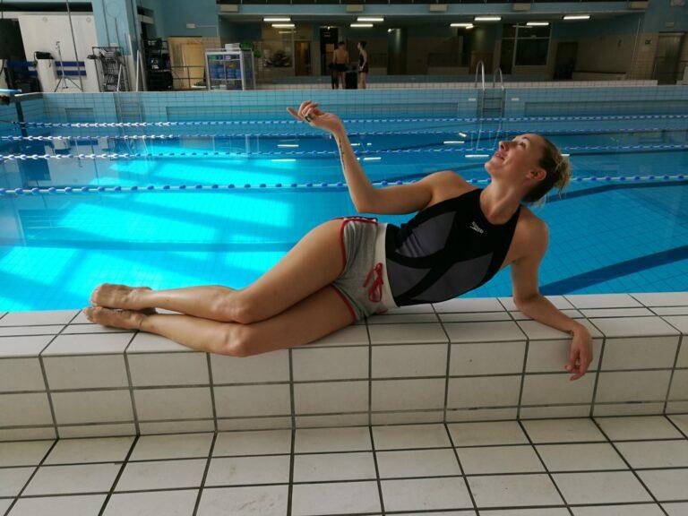 Mylena at the pool