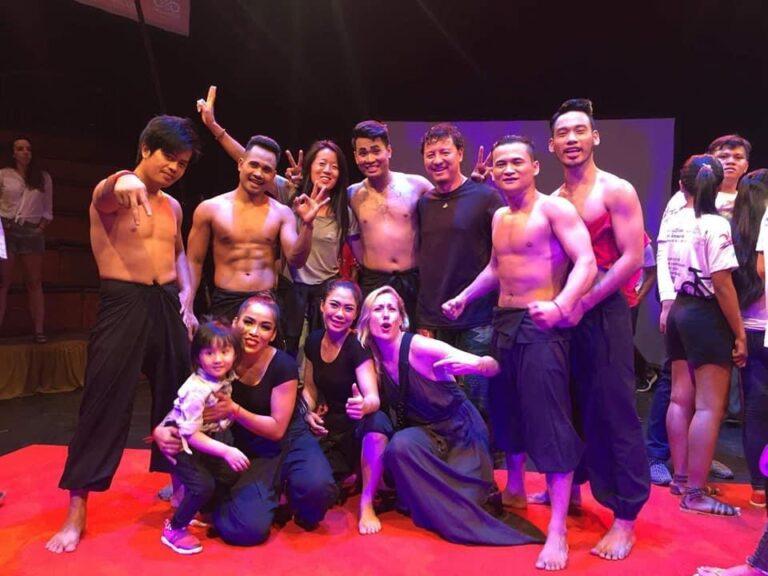 Mylena with Cambodian Circus