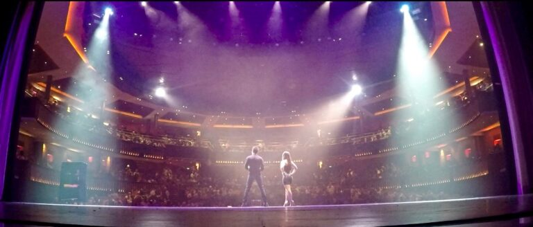 Kyle and Mistie on stage