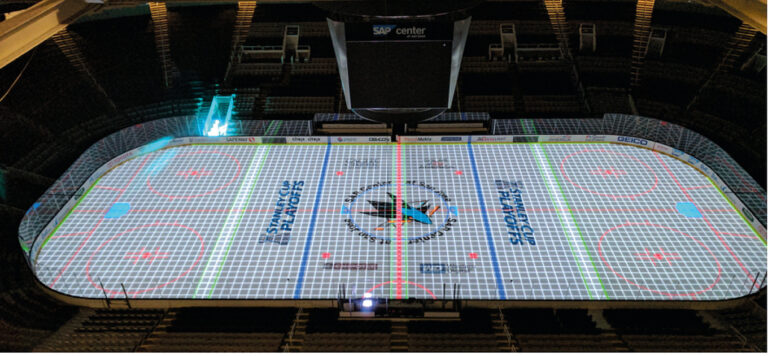 Projection Mapping on Ice