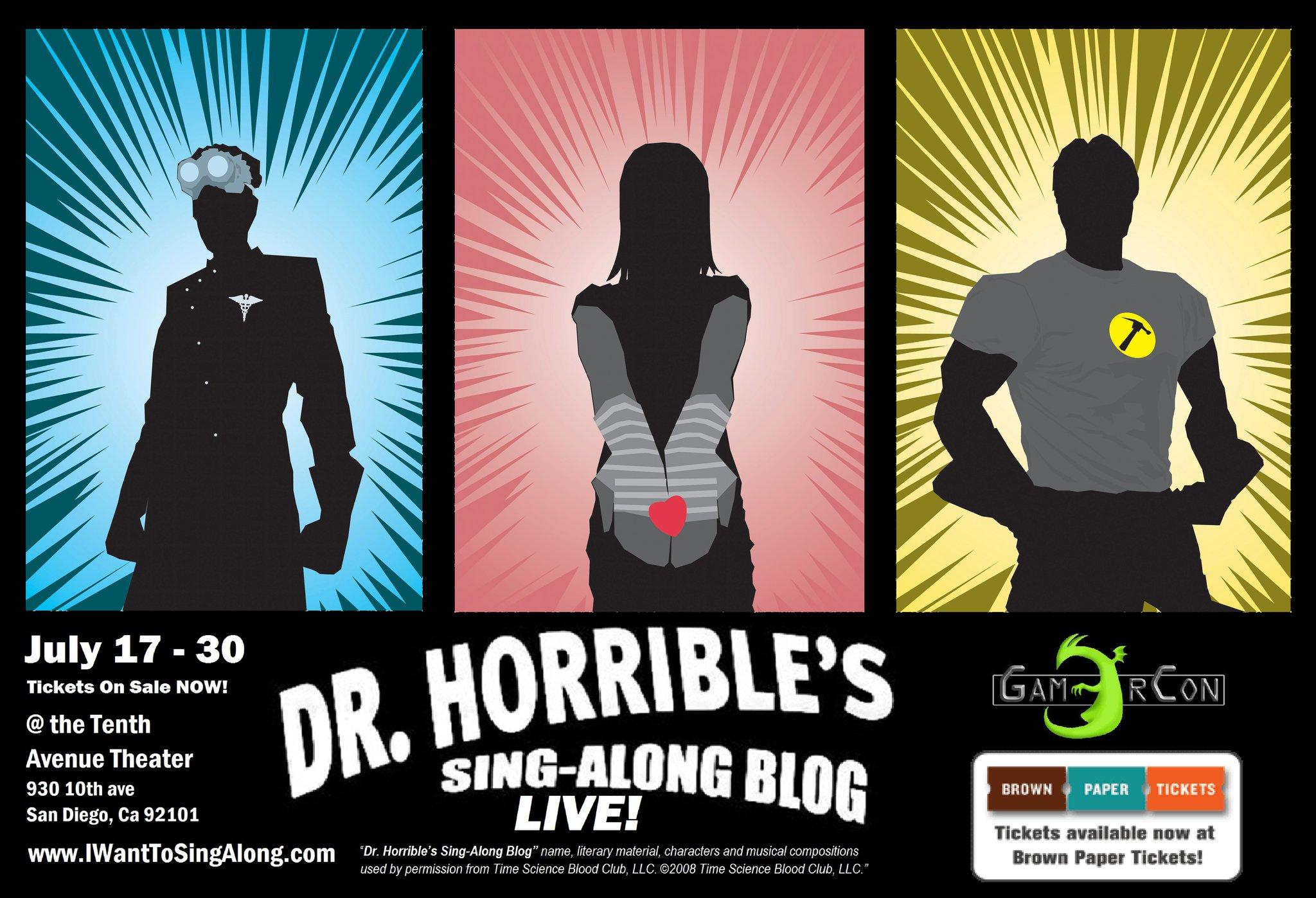 Dr Horrible's Sing Along Blog Poster