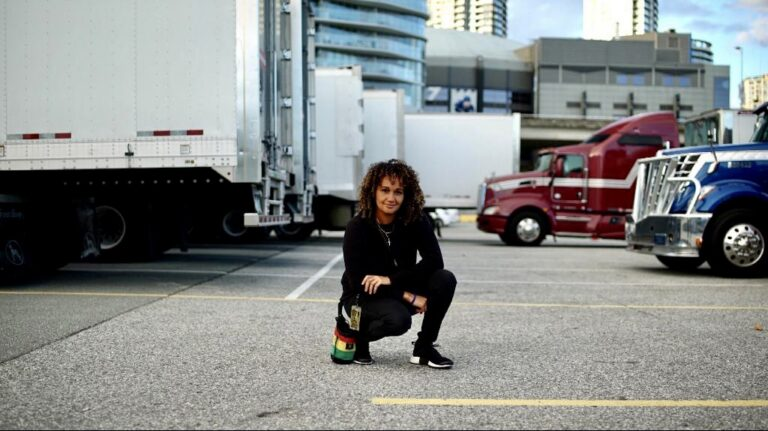 Liselle Bertrand and touring trucks
