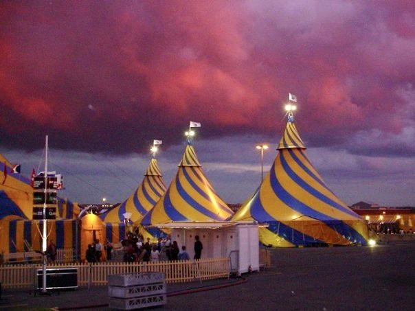 With Cirque du Soleil on tour