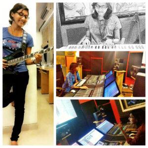 female sound engineer