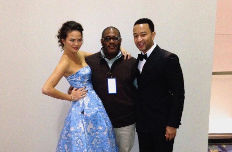 David with John Legend and Chrissy Tiegen