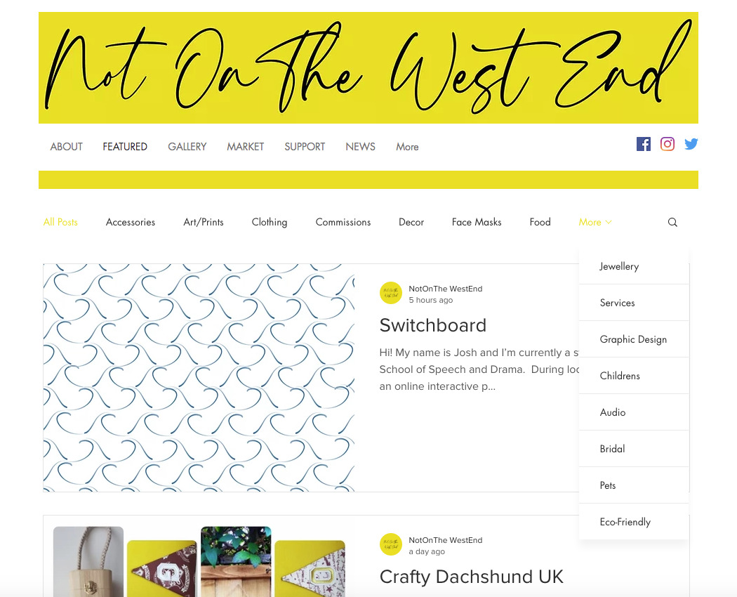 Not On The West End Homepage
