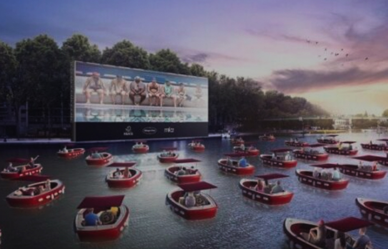 Social Distancing Innovation Movie Theater on River Seine
